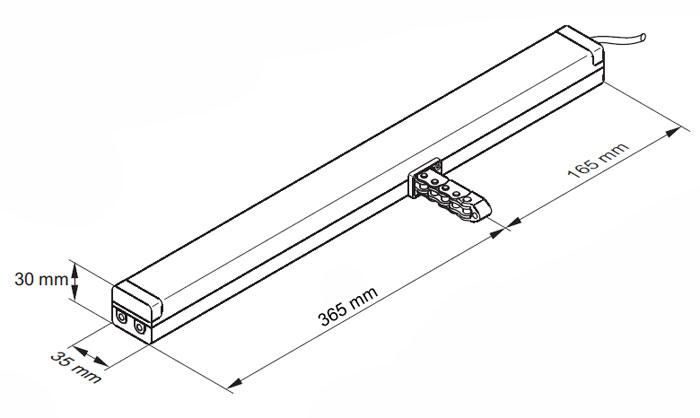 d h cdc series 600mm 24v dc chain actuator