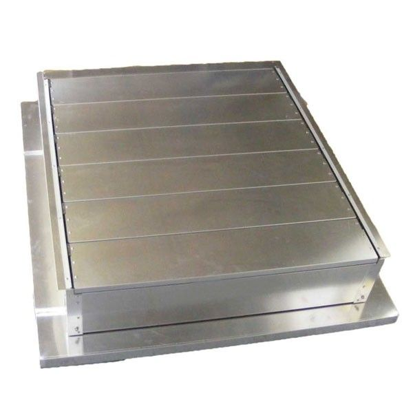 Louvered Smoke Ventilator 1m x 1m Aluminium Blades