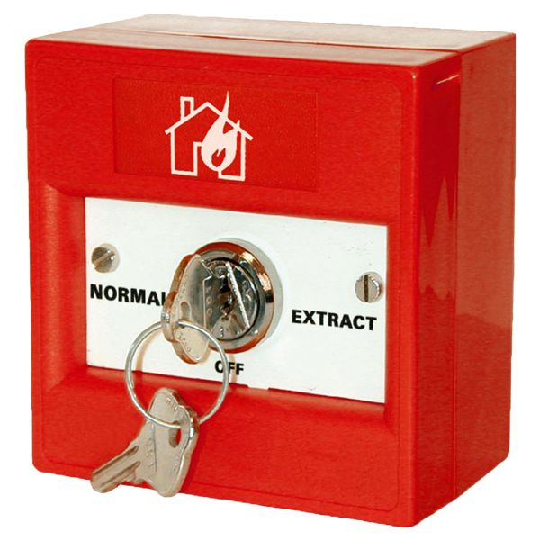 KAC Red Fireman's Vent Extract Switch