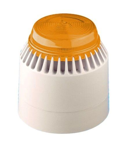 Fulleon Flashni White Body Amber Lens Independant Beacon & Sounder