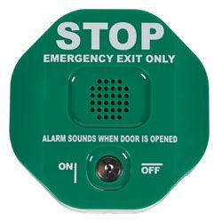 STI Green Exit Alarm With Isolate Keyswitch & Magnetic Door Contact
