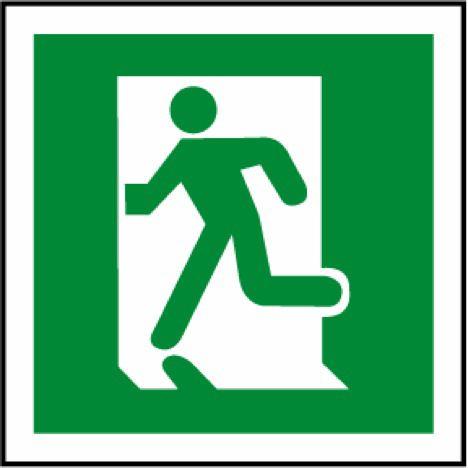 Running Man Symbol Running Left
