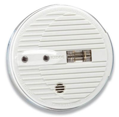 9V Battery Operated Ionisation Smoke Alarm for Hallways with Escape Light - Kidde