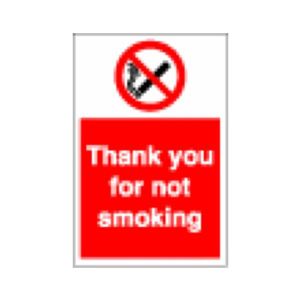 Thank you for not smoking