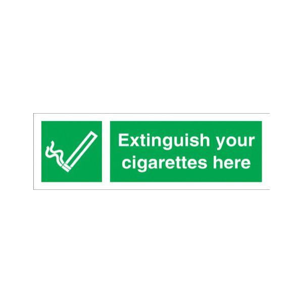 Extinguish your cigarette here