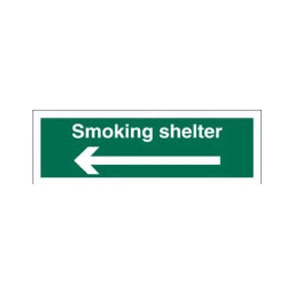 Smoking shelter (arrow left)