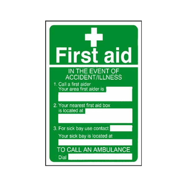 First aid accident/illness