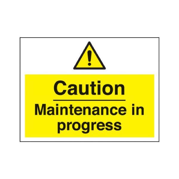 Caution maintenance in progress