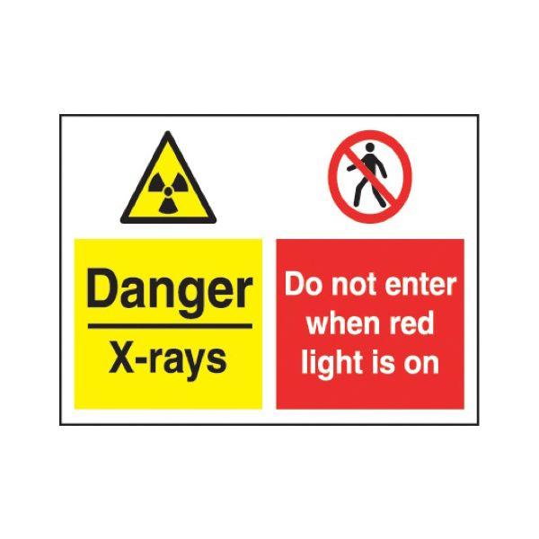 Danger - x-rays do not enter when red light