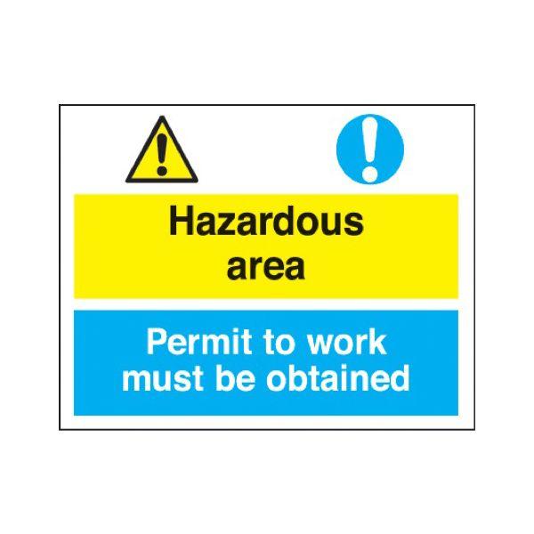 Hazardous area/permit to work