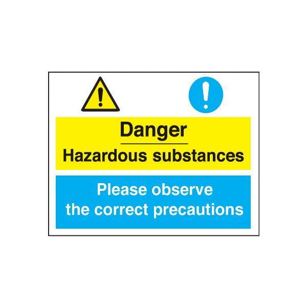 Danger Hazardous Substances - Correct Precautions