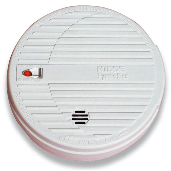 9V Battery Operated Ionisation Smoke Alarm with Hush Button - Kidde