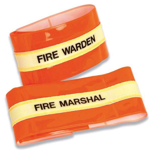 Hi-Visibility Armbands - Fire Warden - Fire Marshal