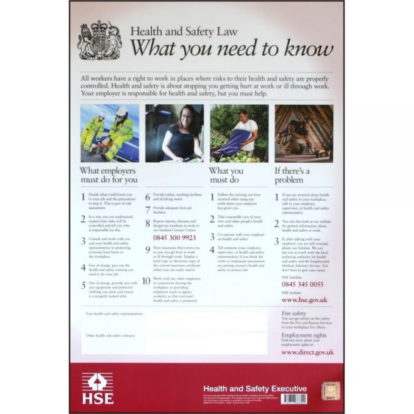 Health & Safety Law Poster