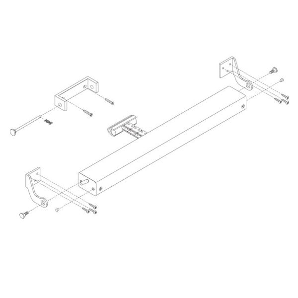 D+H KA Series Chain Actuator Brackets Outwards Opening