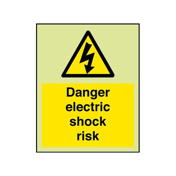 Electrical Hazard Sign. 'Danger electric shock risk'