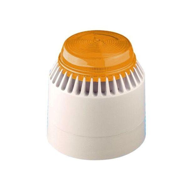 Fulleon Flashni White Body Amber Lens Independant Beacon & Sounder