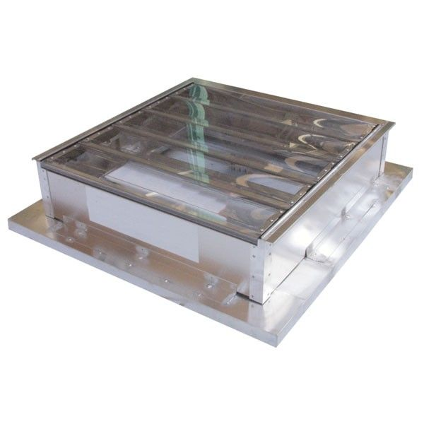 Louvered Smoke Ventilator 1m x 1m Polycarbonate Blades