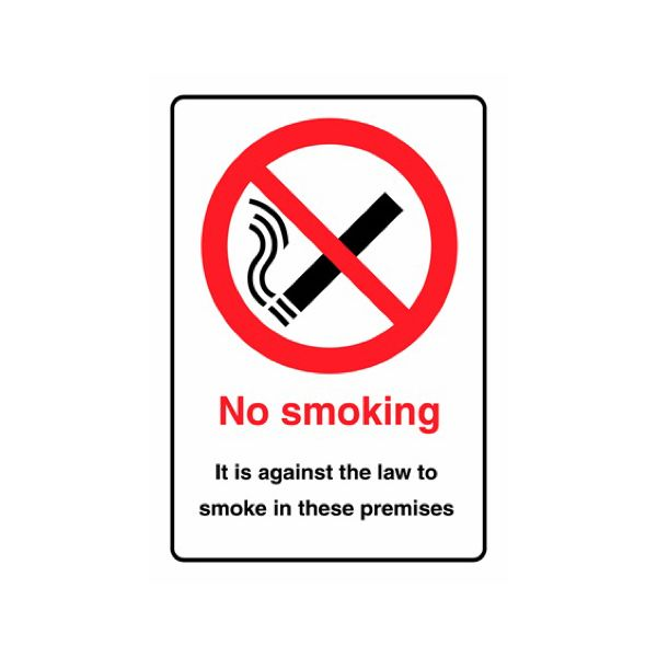 No smoking it is against the law premises