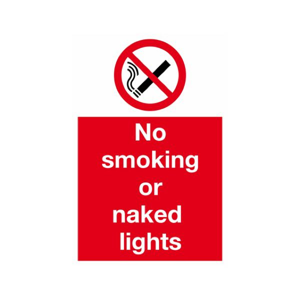 No smoking or naked lights