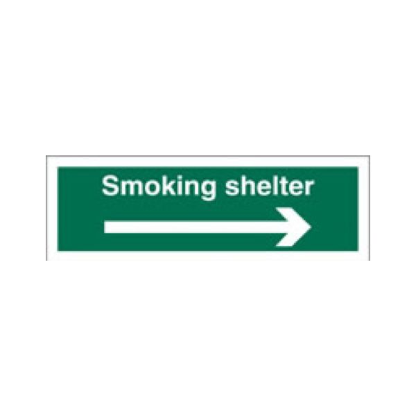 Smoking shelter (arrow right)