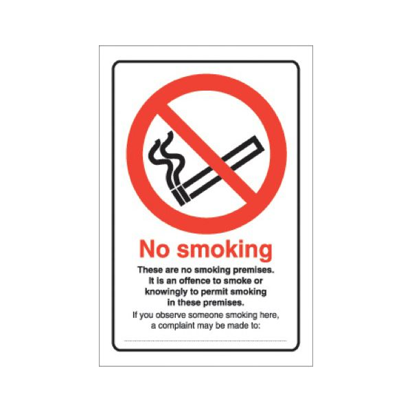No smoking board