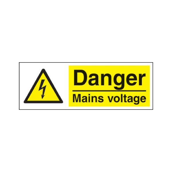 Danger mains voltage