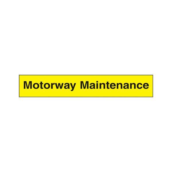 Motorway maintenance