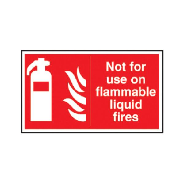 Not for use on flammable