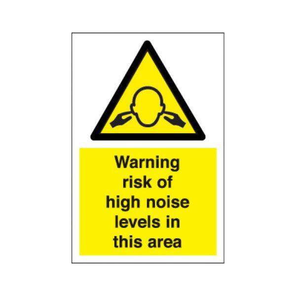 Warning risk of high noise