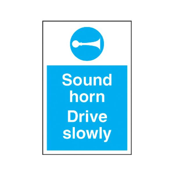 Sound horn drive slowly