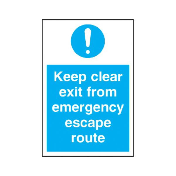 Keep clear exit for emergency