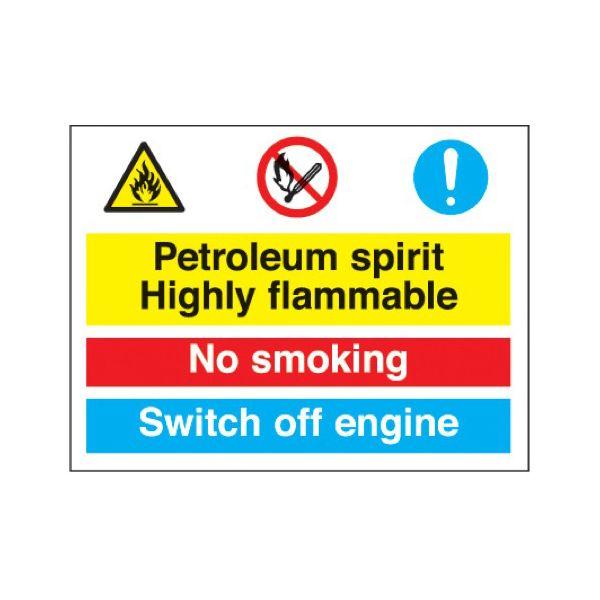 Petroleum sprit no smoking switch off