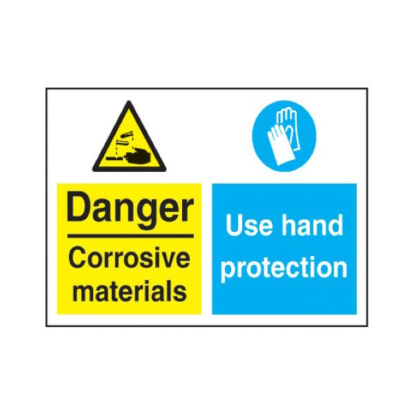 Danger - corrosive materials use hand protection