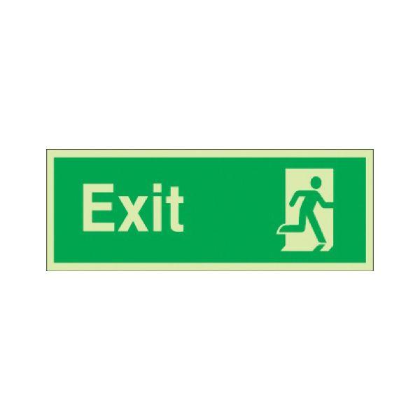 Exit runnning man right Photoluminescent