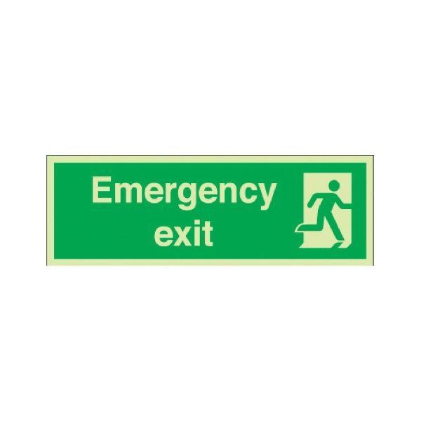 Emergency exit Photoluminescent