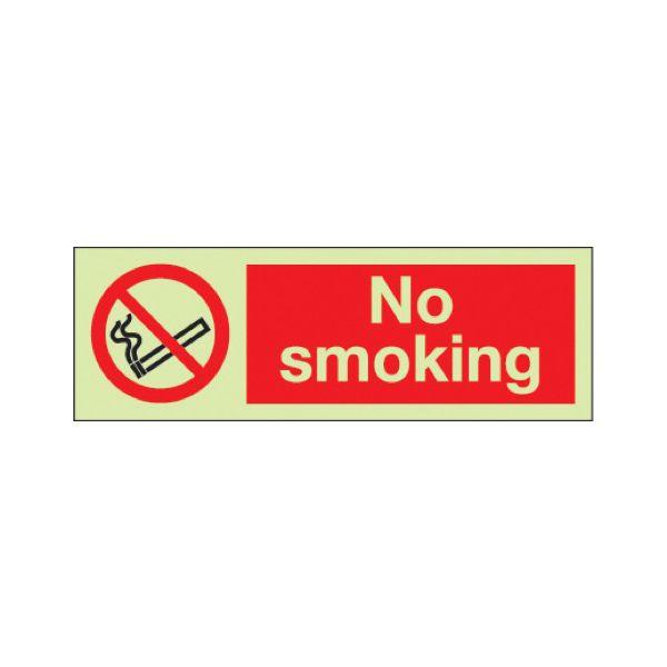 No smoking Photoluminescent