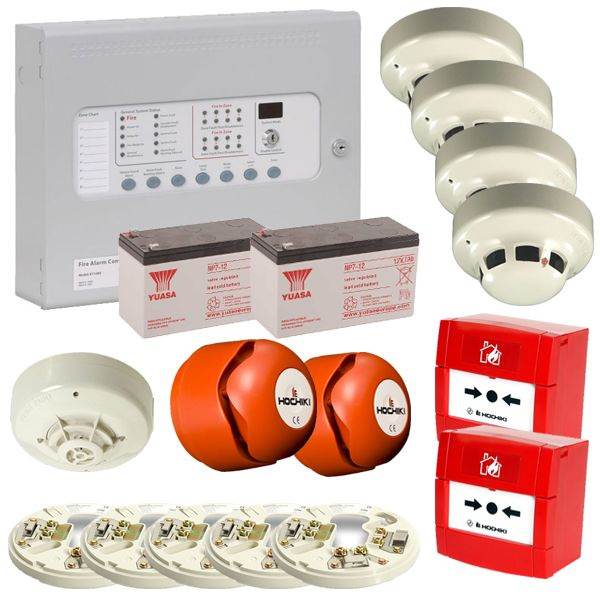 Conventional 4 Wire 2 Zone Fire Alarm Kit