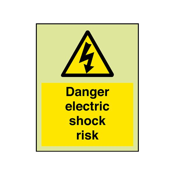 Electrical Hazard Sign. 'Danger electric shock risk'