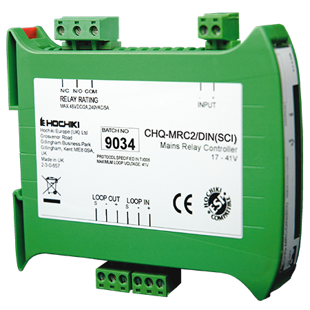 Hochiki DIN Mains Relay Controller CHQ-MRC2/DIN(SCI)