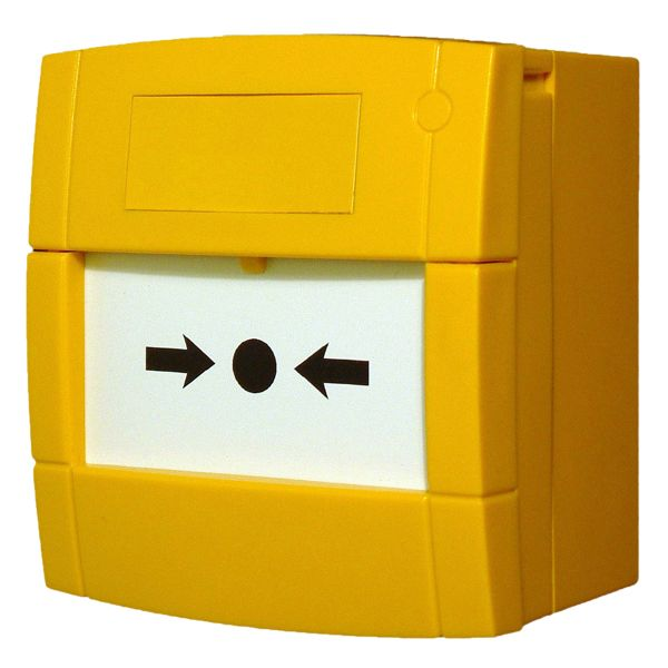 KAC Yellow Fire Alarm Call Point NO/NC Contacts