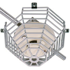 STI Surface Mount Steel Cage Protector 210mm x 145mm Vandal Cage for Smoke, Fire and CO Detectors